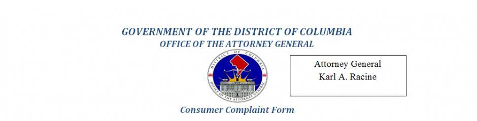 Oag Consumer Complaint Form  Dcforms